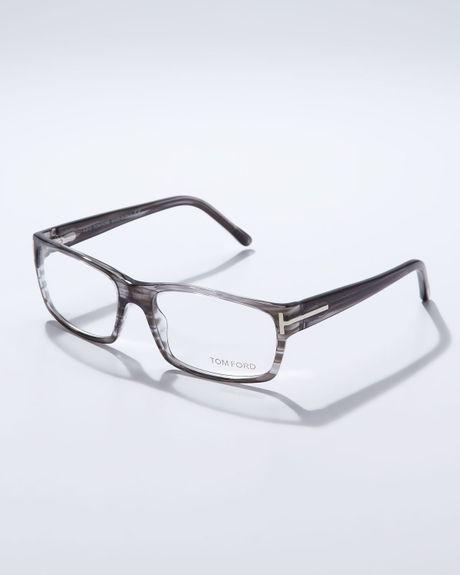 Tom Ford Square Frame Fashion Glasses In Gray For Men Lyst