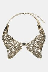 Topshop Metal Lace Collar Necklace - Lyst