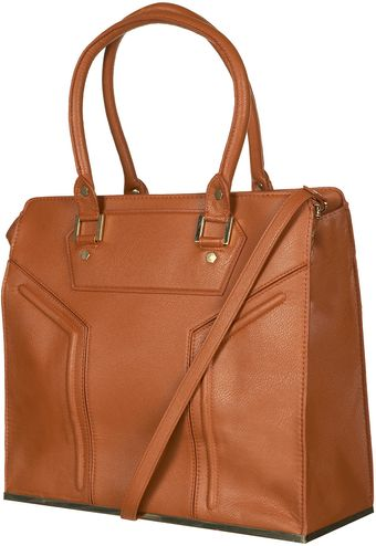 Topshop Frame Base Tote Bag - Lyst