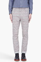 White Mountaineering Grey Art Deco Patterned Jodhpur Pants - Lyst