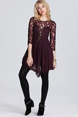 Free People Dress Floral Mesh Lace - Lyst