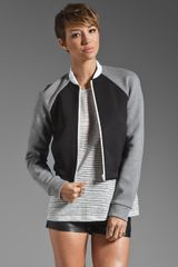 Neoprene and Jersey Bomber Jacket
