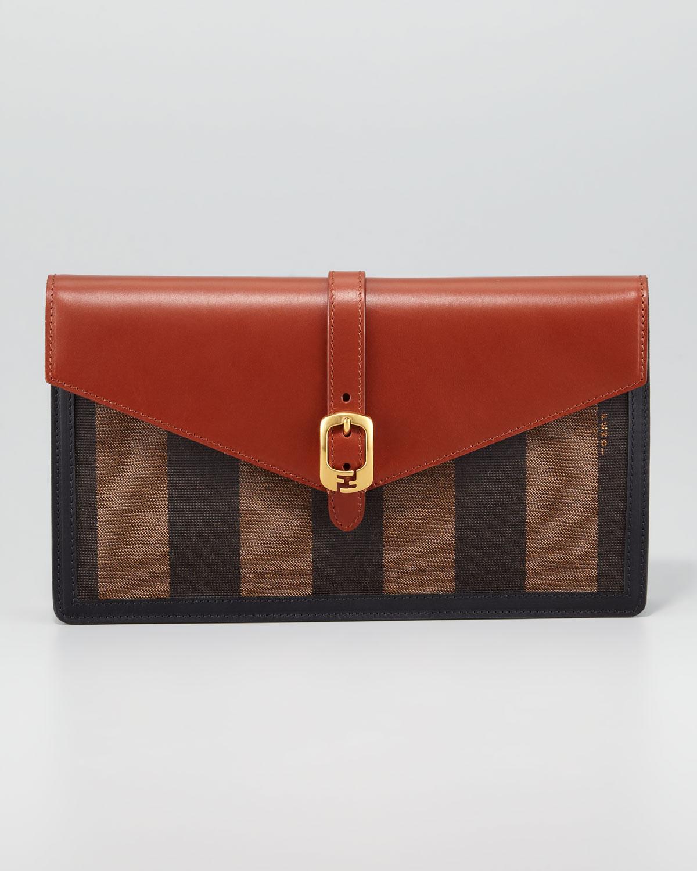 Fendi Leather Envelope Clutch