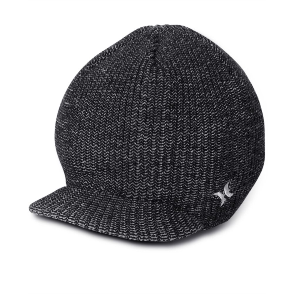 Hurley Depth Visor Beanie In Black For Men Lyst