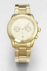 Michael Kors Goldtone Stainless Steel Chronograph Watch - Lyst