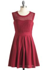 ModCloth A Berry Important Date Dress - Lyst