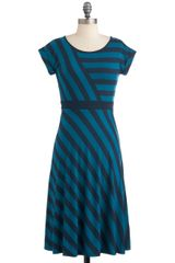 ModCloth An Afternoon with You Dress in Blue - Lyst