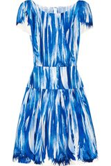Oscar de la Renta Printed Stretch Cottonblend Dress - Lyst