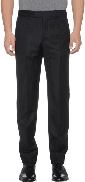 Alexander Mcqueen Formal Trouser in Black for Men - Lyst