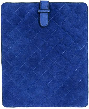 Asos Suede Quilted Leather Ipad Case - Lyst