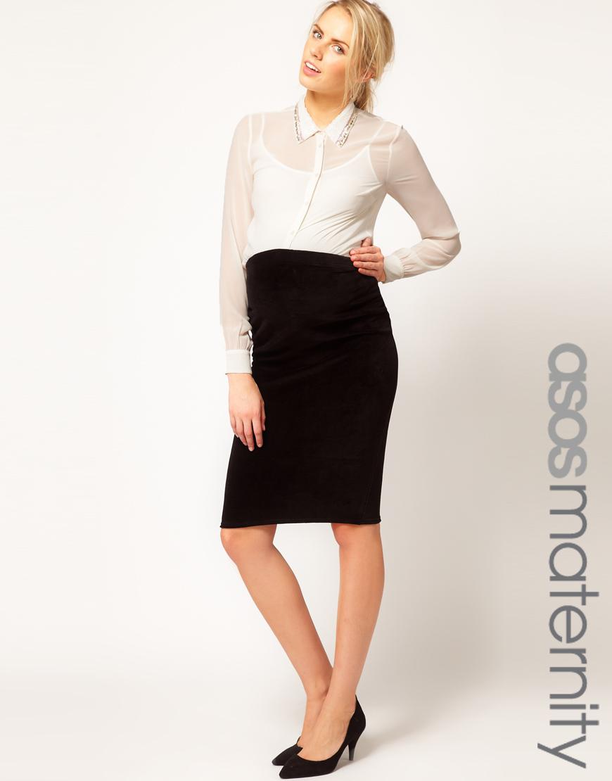 Velvet Pencil Skirt - Redskirtz