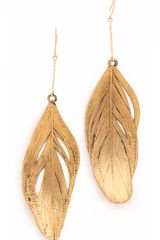 Aurelie Bidermann Swan Feather Earrings - Lyst