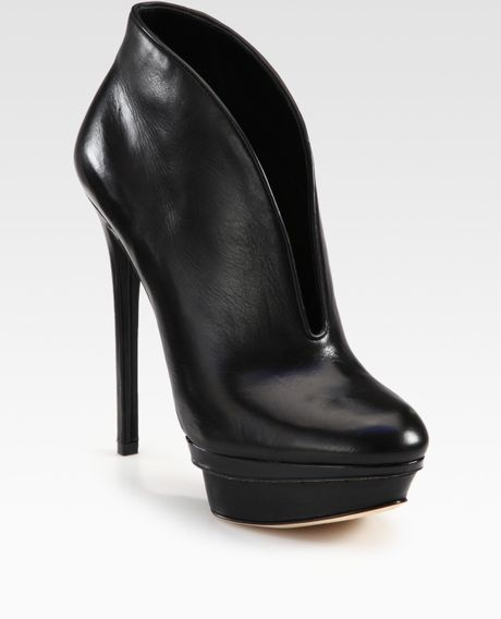 b brian atwood fortosa leather platform ankle boots in