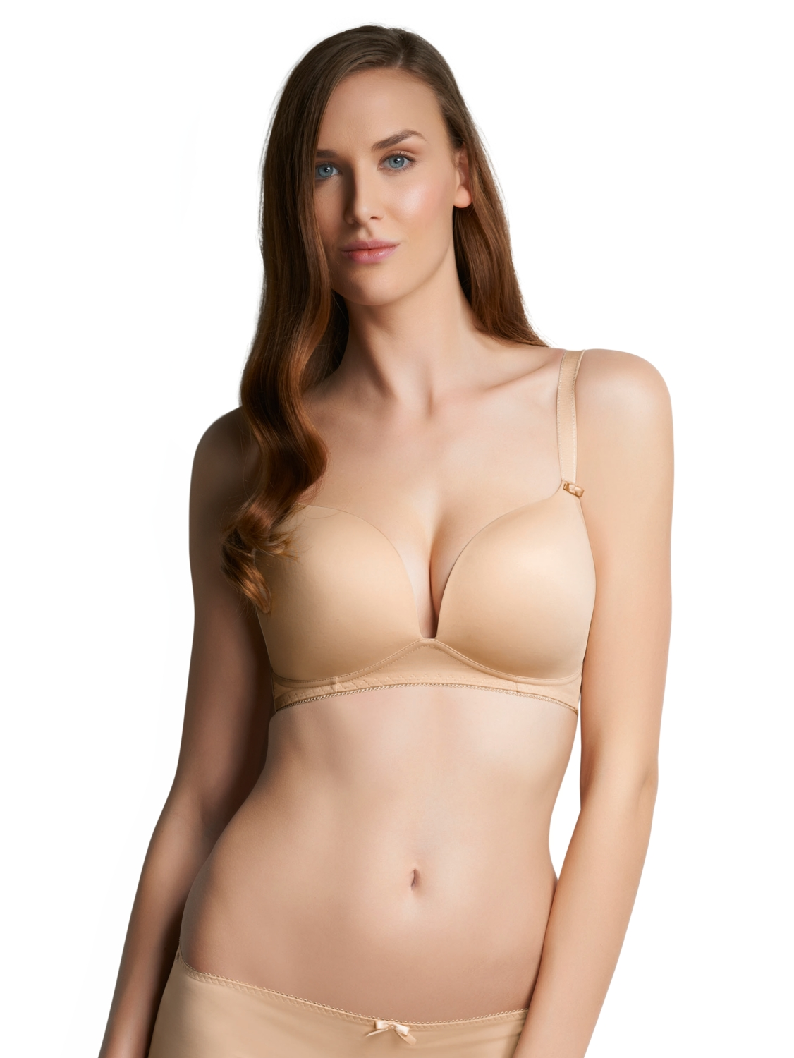 4af841c775532 Freya Freya Deco Moulded Soft Cup Bra Nude in Natural - Lyst