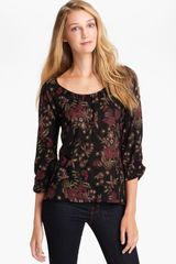 Lucky Brand Hera Lace Shadows Blouse - Lyst