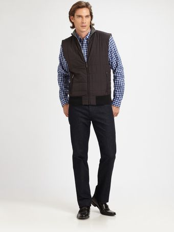 Michael Kors Reversible Fleece Vest - Lyst