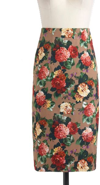 ModCloth Blooms To Fill The Room Skirt - Lyst