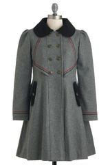 ModCloth Stylish To The Chorus Coat in Grey - Lyst