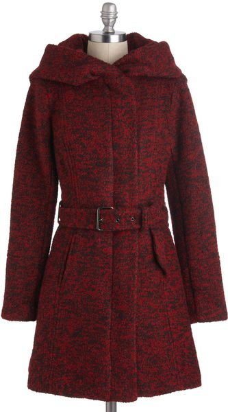 ModCloth Pastry Date Coat in Apple - Lyst