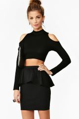 Nasty Gal Betty Peplum Skirt - Lyst