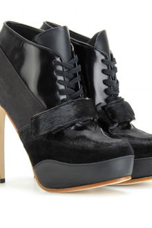 Acne Ace Lace Up Leather Ankle Boots - Lyst