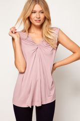 ASOS Collection  Top with Twist Neck Front - Lyst