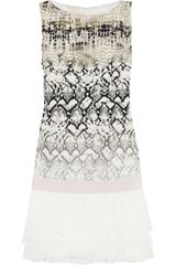 Giambattista Valli Printed Silk Mini Dress - Lyst