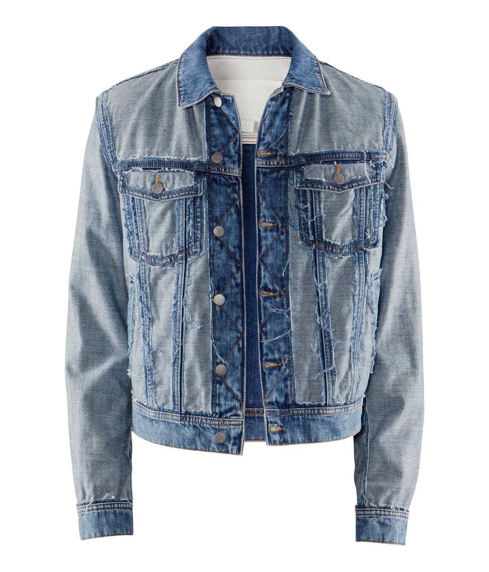 Hu0026m Denim Jacket in Blue for Men | Lyst