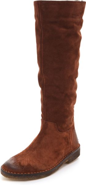 Vince Connor Suede Boots in Brown - Lyst