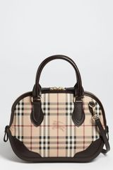 Burberry Orchard Haymarket Check Small Bowling Bag - Lyst