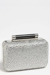 Diane Von Furstenberg Tonda Small Crystal Leather Clutch - Lyst