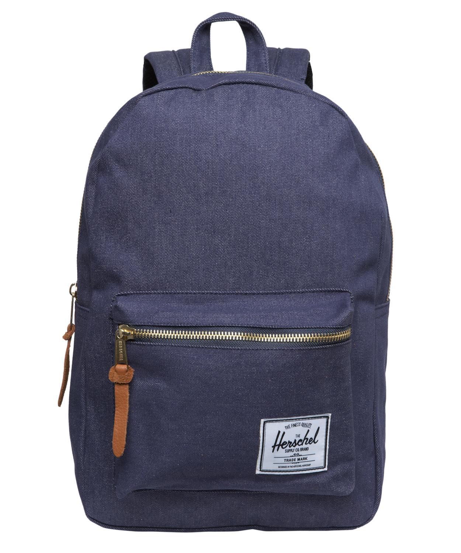 Herschel Supply Co Settlement Backpack: Herschel Supply Co. Denim Settlement Backpack In Blue For