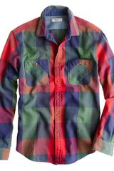 J.Crew  Heavyweight Flannel Shirt in Multi Plaid - Lyst