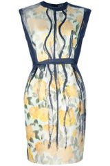 Lanvin Floral Print Sleeveless Dress
