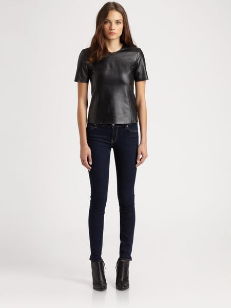 Sachin & Babi Barcelona Leather Top in Black (jet) - Lyst