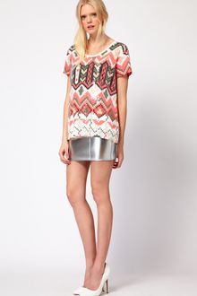 Sass And Bide Sass and Bide The Star Turn Skirt in Silver Neoprene - Lyst