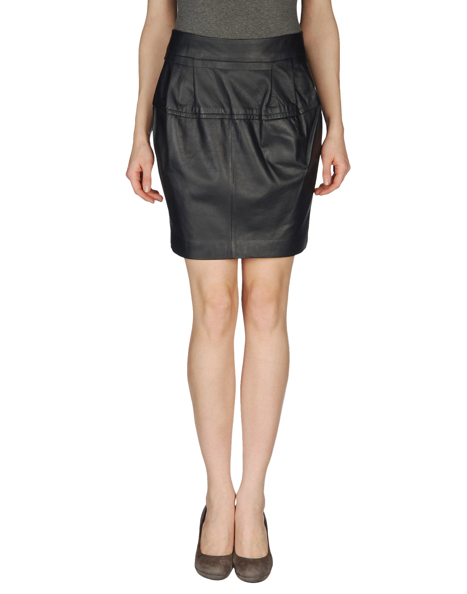 schumacher leather skirts in blue save 70 lyst