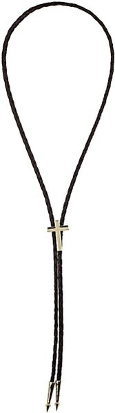 Topshop Cross Bolo Necklace in Brown - Lyst