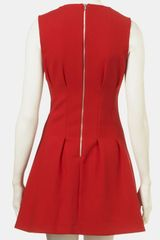 Topshop Seamed Waist Party Dress in Red - Lyst