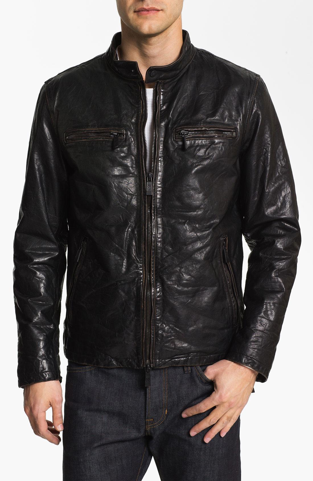 Vince black leather jacket