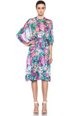 Zimmermann Clique Tuck Dress in Illusions Floral - Lyst