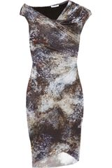 Helmut Lang Oxide Printed Jersey Dress - Lyst