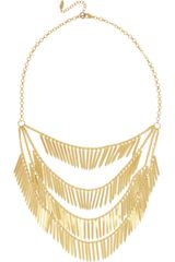 Isharya Fringe 18karat Goldplated Necklace - Lyst