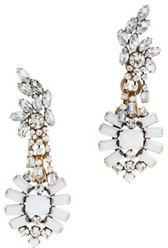 J.Crew Lulu Frost For Jcrew Crystal and Color Statement Earrings - Lyst