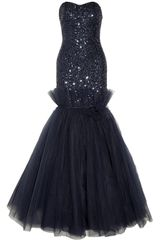 Notte By Marchesa Sequined Lace and Tulle Gown - Lyst