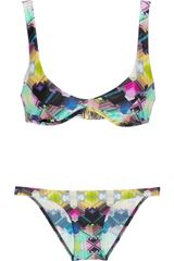 Zimmermann The Vase Printed Triangle Bikini - Lyst