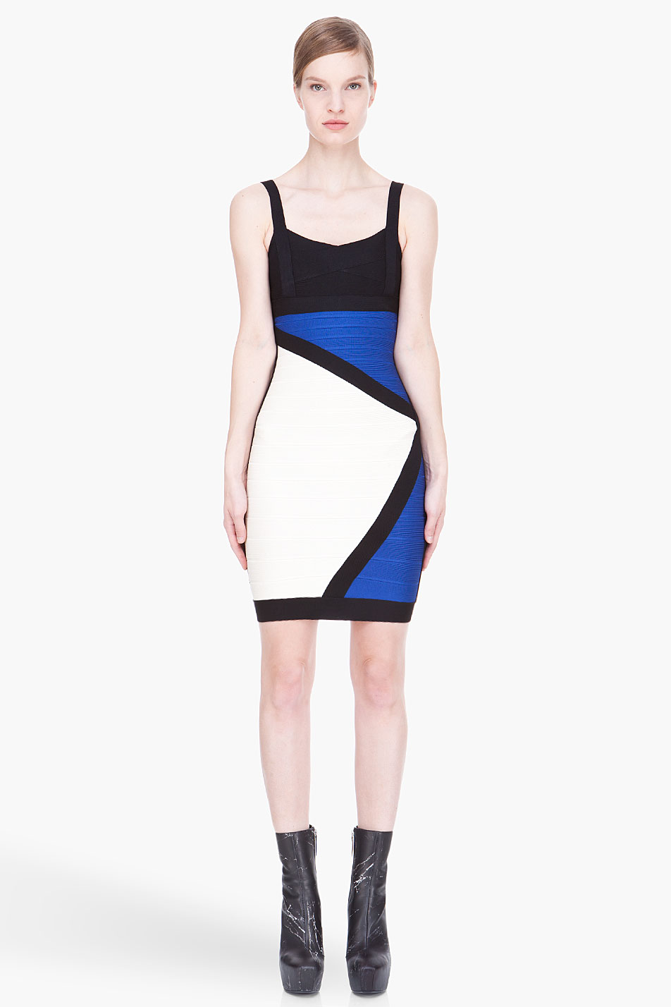 Color block party dress - Gallery