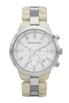 Michael Kors Midsize Showstopper Chronograph Watch Alabaster Acetate - Lyst