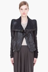Rick Owens Leather Combo Robot Biker Jacket - Lyst