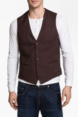 1901 Cotton Vest in Brown for Men (brown/bur stripe) - Lyst